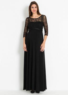 - Dantelli Uzun Hamile Abiye Elbisesi Glam