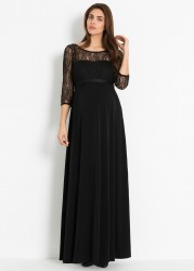 Dantelli Uzun Hamile Abiye Elbisesi Glam - Thumbnail