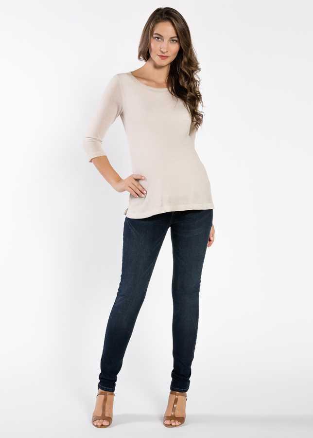 Dikişsiz Skinny Hamile Jean Pantolonu Peru