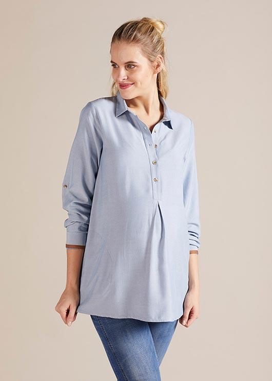 - Gömlek Yaka Hamile Tuniği Kia