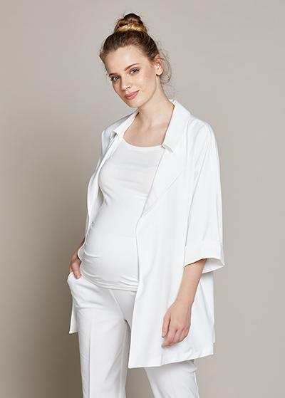 Dökümlü Uzun Hamile Ceketi Mina - Thumbnail