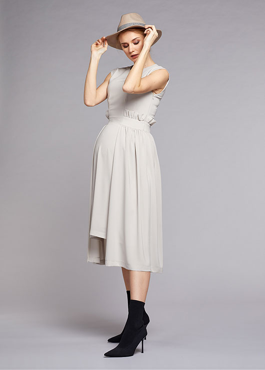 - Elegant Maternity Dress Stone