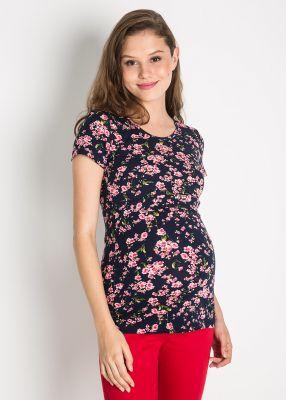 - Emzirme Özellikli Çiçek Baskılı Hamile Bluzu Cell