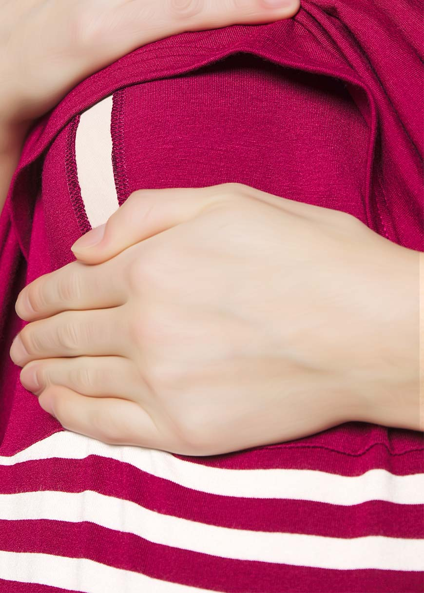Emzirme Özellikli Örme Hamile Elbisesi Ally