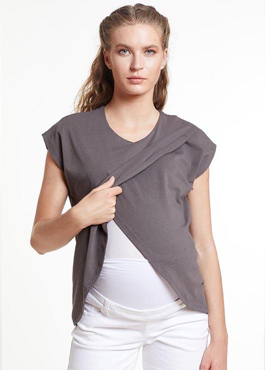 - Emzirme Özellikli Hamile T-şörtü, T-shirt Thailand
