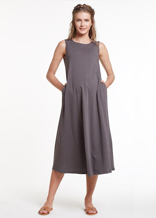 - Emzirme Özellikli Midi Hamile Elbisesi, Dress Velma