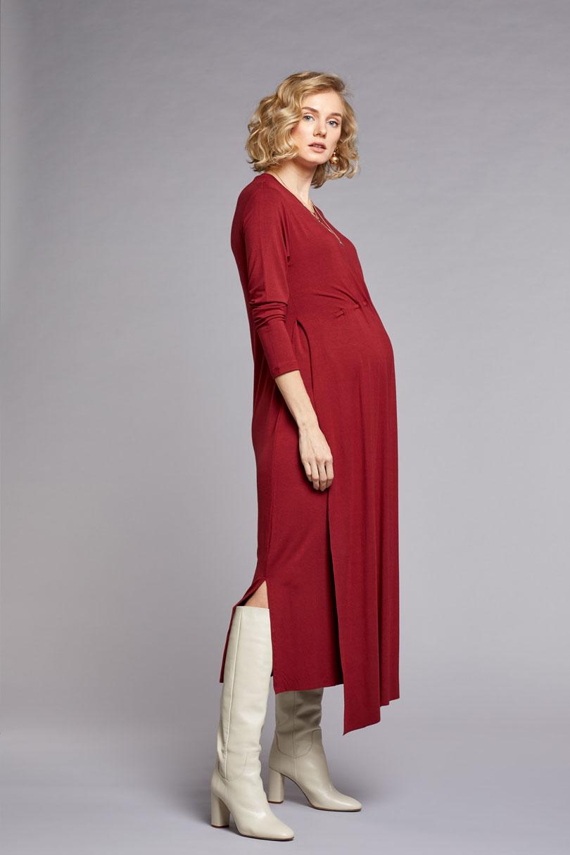 Emzirme Özellikli Uzun Hamile Elbisesi Sophia