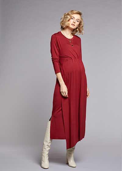 Emzirme Özellikli Uzun Hamile Elbisesi Sophia - Thumbnail