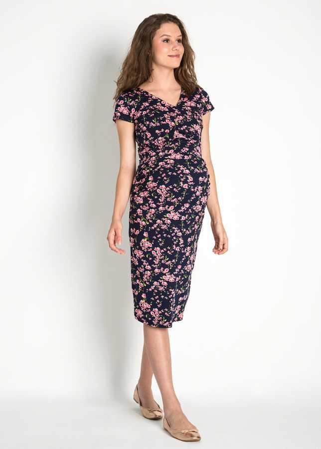 - Esnek Çiçekli Hamile Elbisesi Natsu