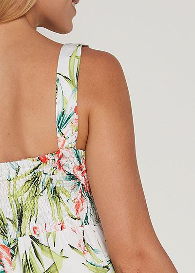 Eteği Fırfırlı Uzun Hamile Elbisesi Elisa - Thumbnail