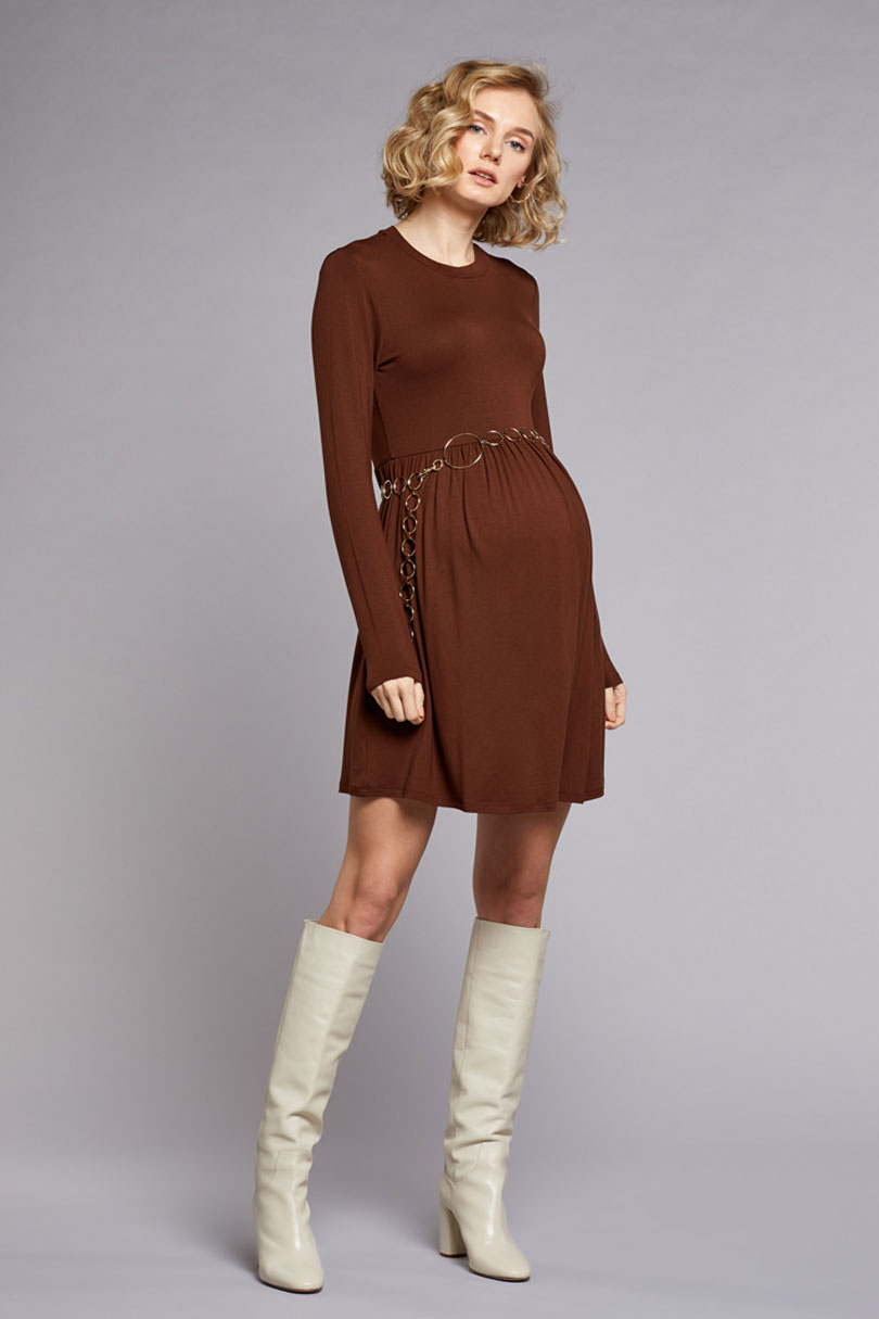 Beli Büzgülü Elbise Romy