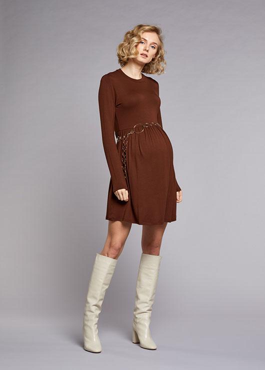 - Beli Büzgülü Elbise Romy