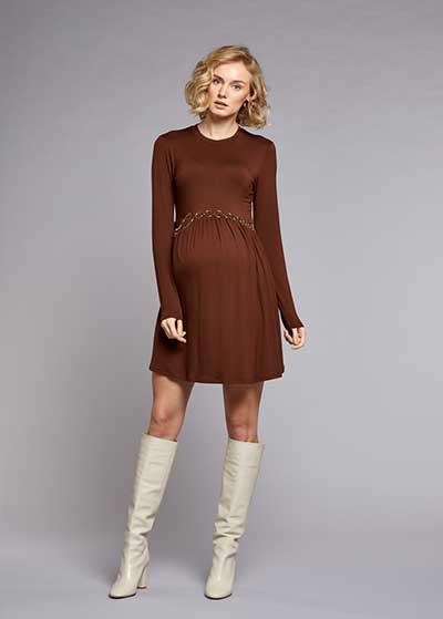 Beli Büzgülü Elbise Romy - Thumbnail