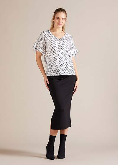 Fermuar Detaylı Hamile Bluzu Wilma - Thumbnail