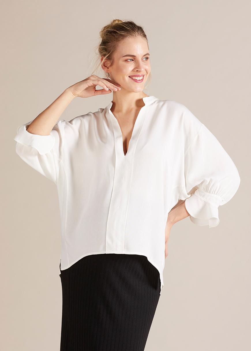 - Geniş Formlu Hamile Bluzu Julia