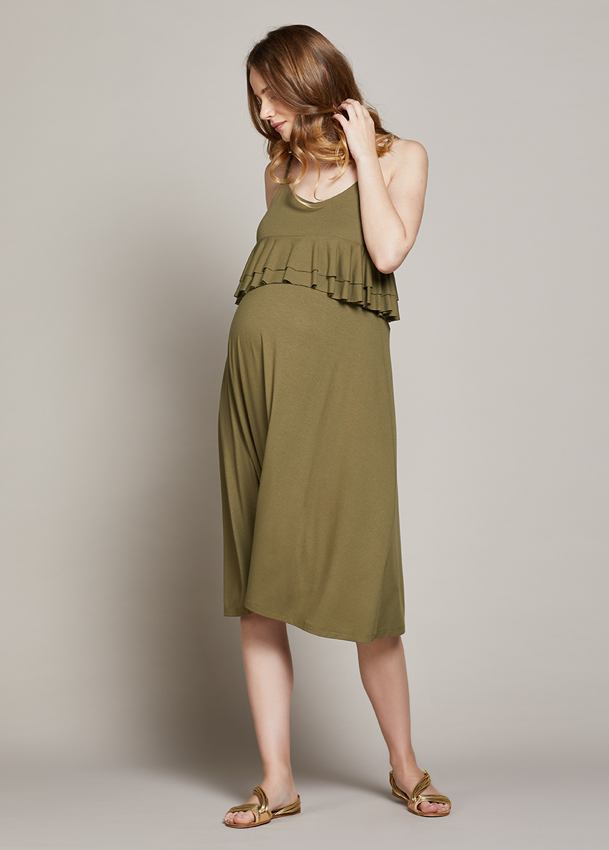 Askılı Hamile Elbisesi Linda