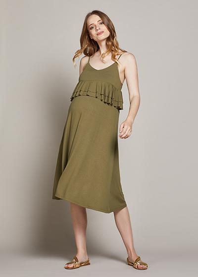 Askılı Hamile Elbisesi Linda - Thumbnail