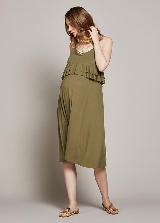 - Askılı Hamile Elbisesi Linda