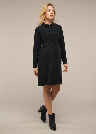 Gömlek Yakalı Hamile Elbisesi Alber - Thumbnail