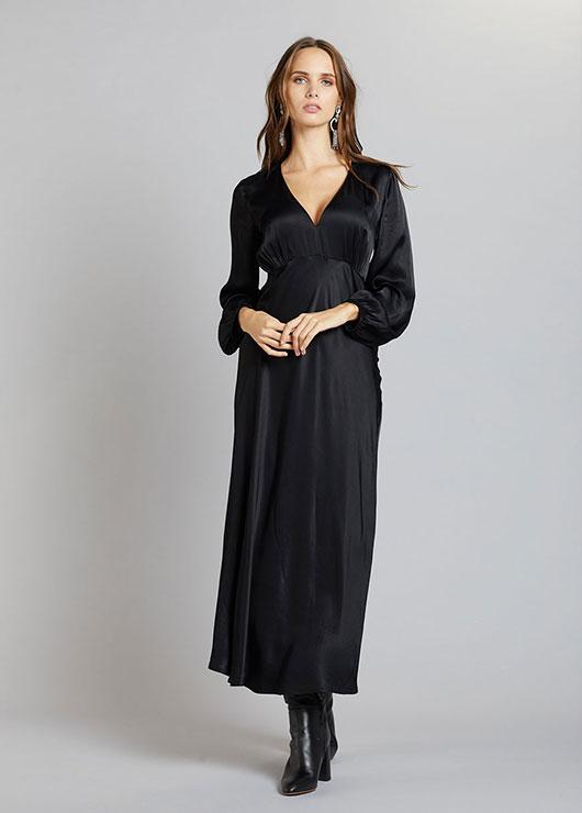 GeBe - Siyah Uzun Hamile Elbisesi Amanda