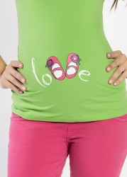 Esprili hamile tişörtü shoesgirl - Thumbnail