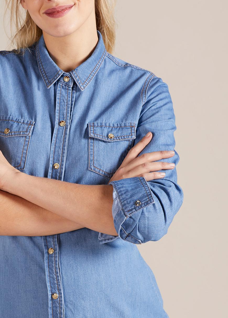 Jean Hamile Gömleği Mykonos