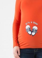 Esprili Hamile Tişörtü Baby Shoes Boy - Thumbnail
