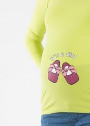 Esprili Hamile Tişörtü Baby Shoes Girl - Thumbnail