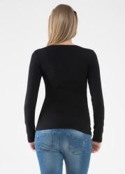 Uzun Kollu Basic Hamile Tişörtü Marni - Thumbnail