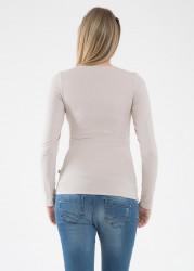 Basic Hamile Tişörtü Uzun Kollu Petra - Thumbnail