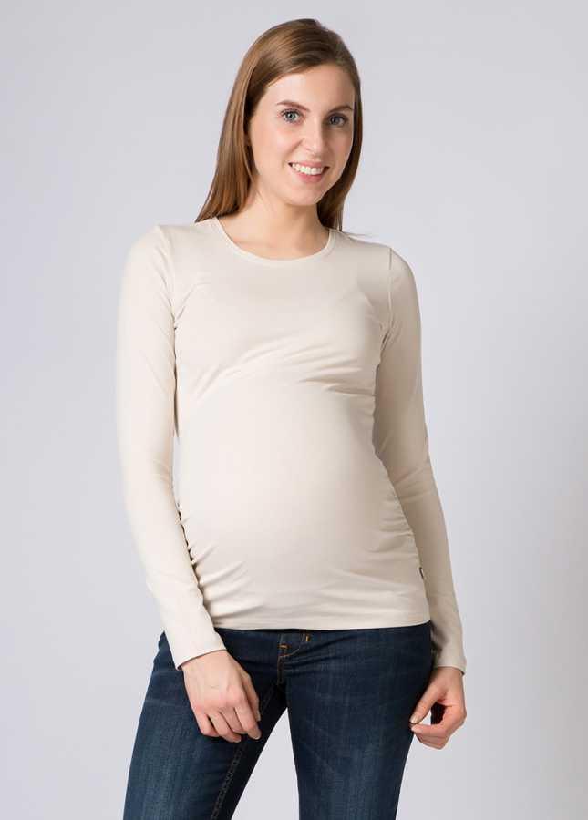 Basic Hamile Tişörtü Uzun Kollu Petra
