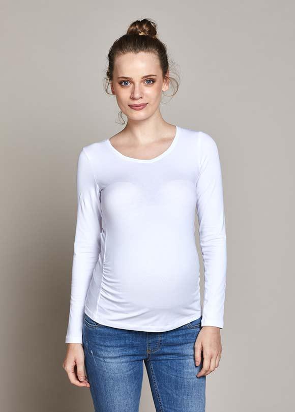 - Uzun Kollu Basic Hamile Tişörtü Petra