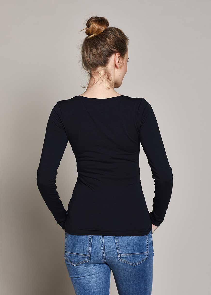 Uzun Kollu Basic Hamile Tişörtü Petra