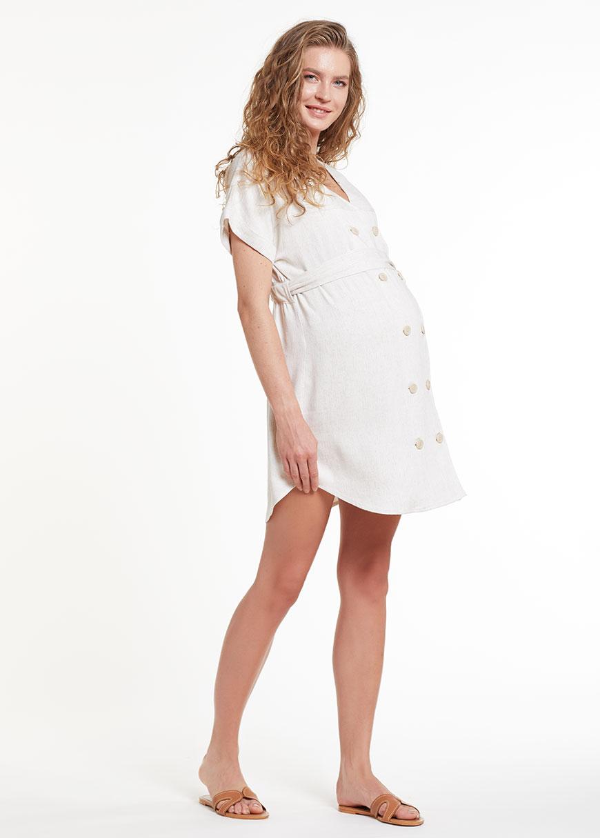 Keten Hamile Tunik Elbisesi Meggie