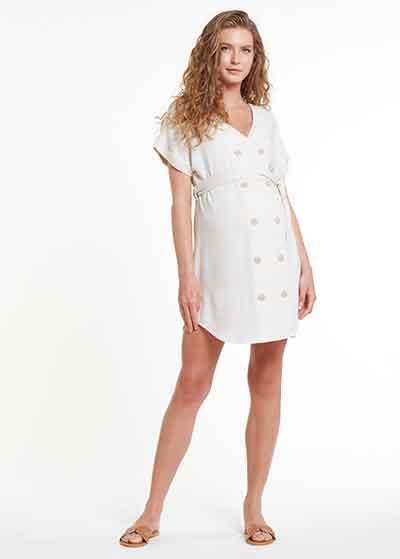 Keten Hamile Tunik Elbisesi Meggie - Thumbnail