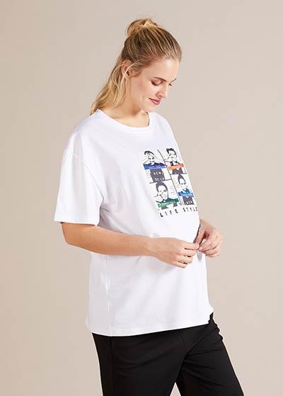 Hologram Baskılı Hamile Tişörtü Mood - Thumbnail