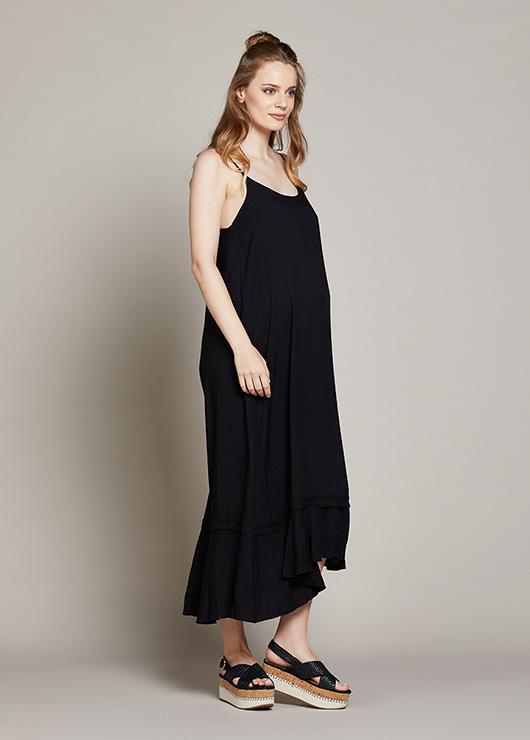 d641cad0e1aae Askılı Uzun Hamile Elbisesi Berta