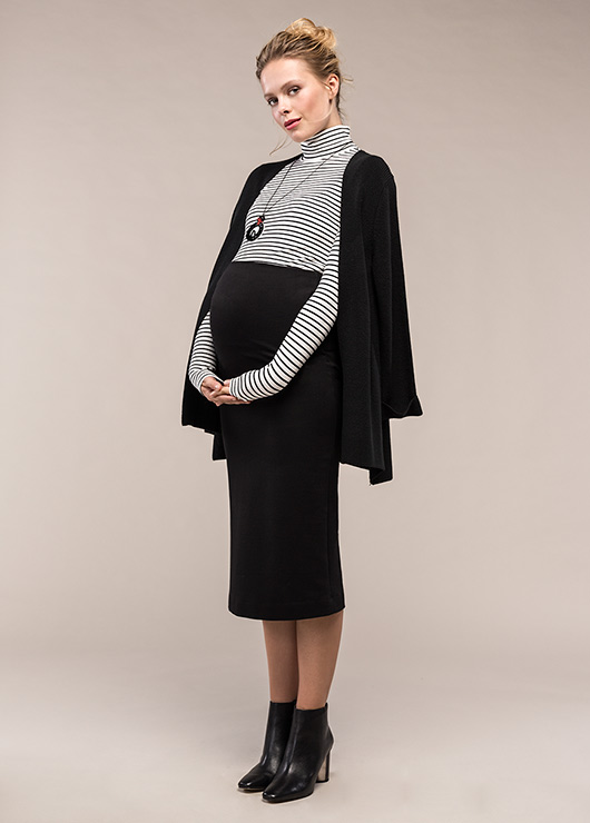 Yüksek Bel Kalem Hamile Eteği Marien