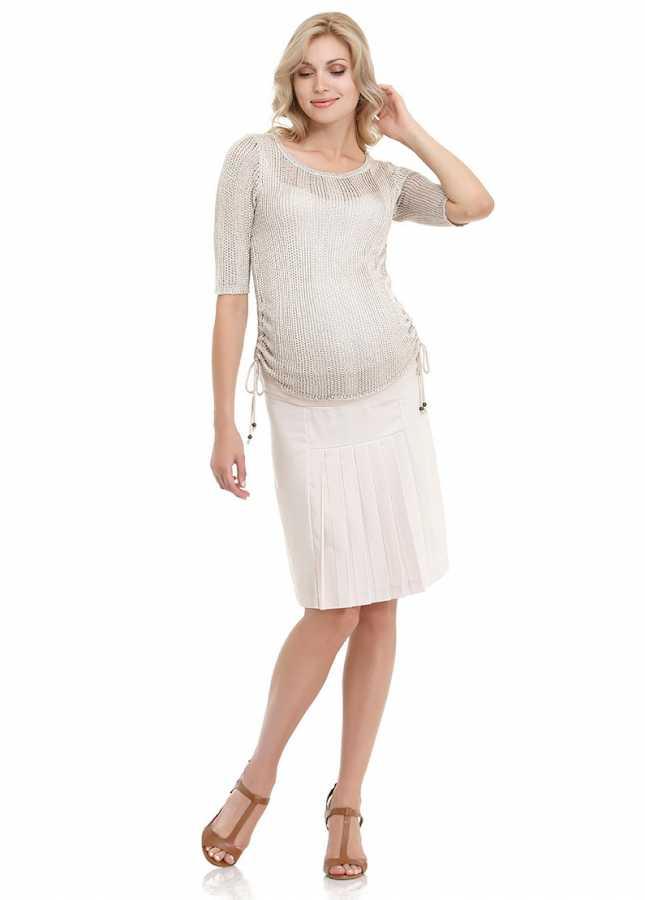 - Pli Detaylı Klasik Hamile Eteği Evans