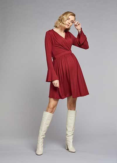 Kolları Volanlı Elbise Palma - Thumbnail