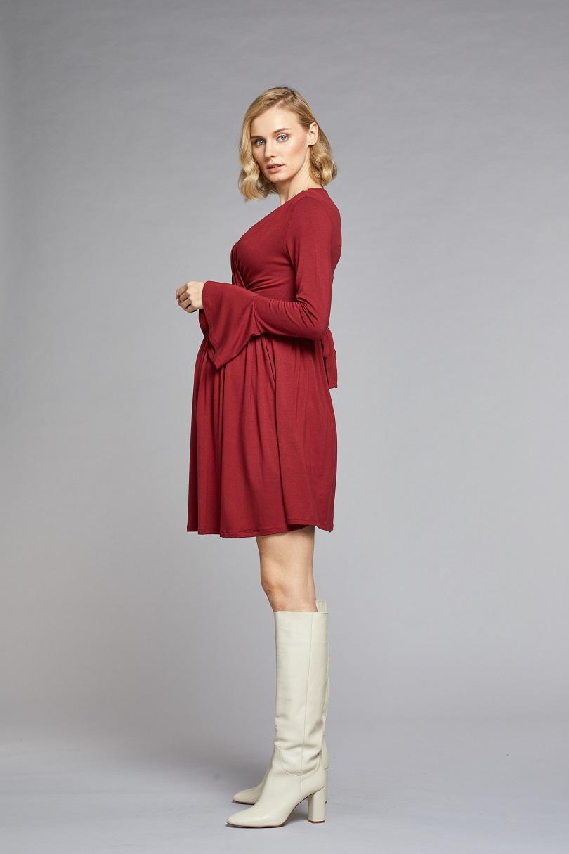 Kolları Volanlı Elbise Palma