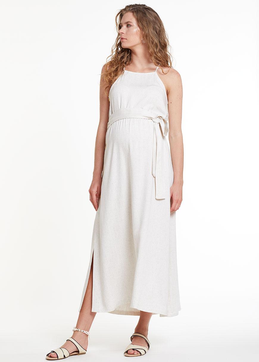 Kuşaklı Hamile Elbisesi Dress Russia