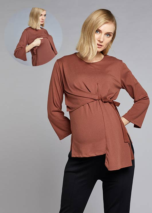 - Maternity Blouse Tie-A