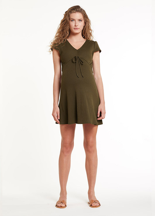 - Maternity Khaki Dress Helena