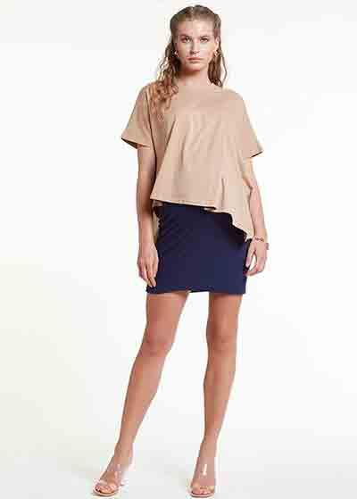 Emzirme Özellikli Örme Hamile Elbisesi, Dress Indiana - Thumbnail