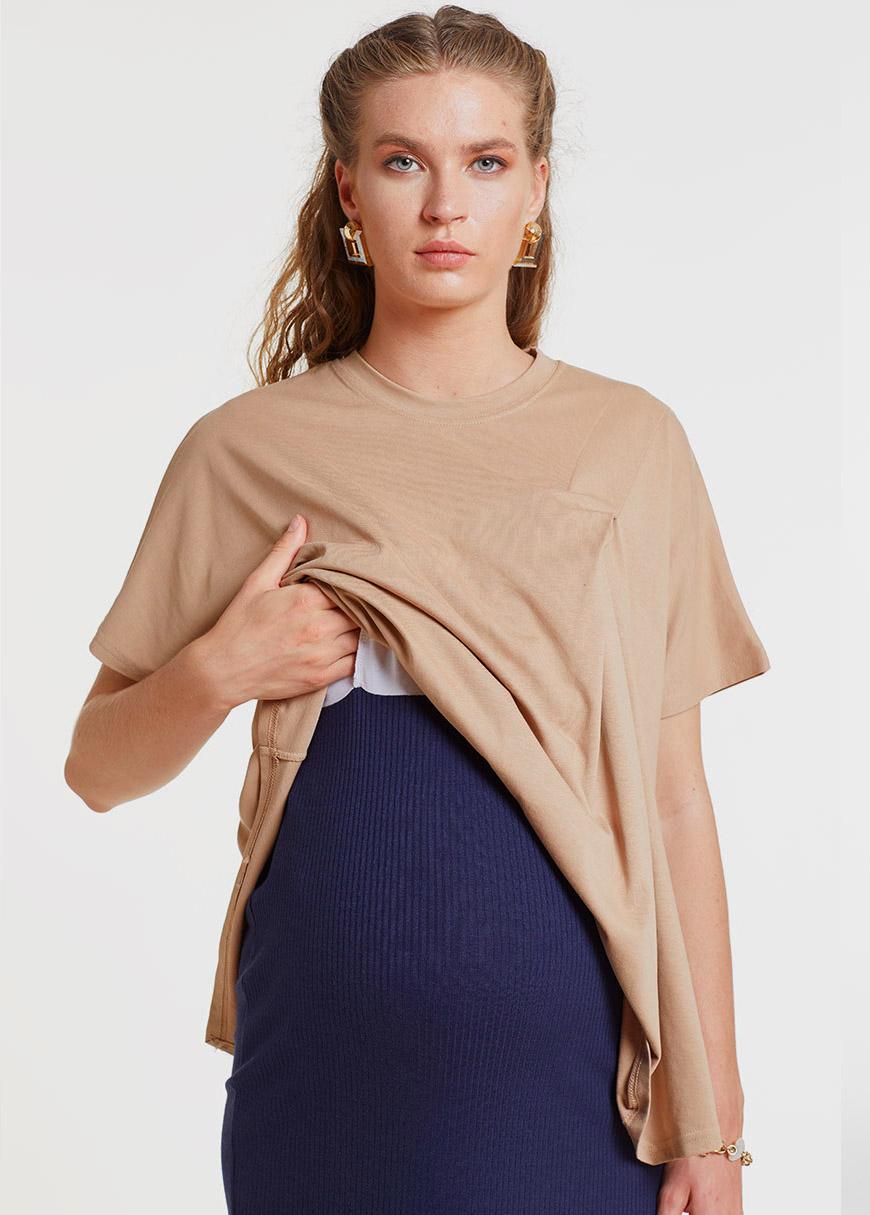 Emzirme Özellikli Örme Hamile Elbisesi, Dress Indiana
