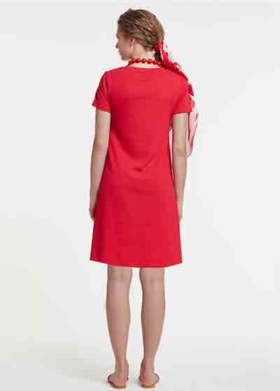 Kırmızı Hamile Elbisesi, Emzirme Özellikli Dress Melina - Thumbnail