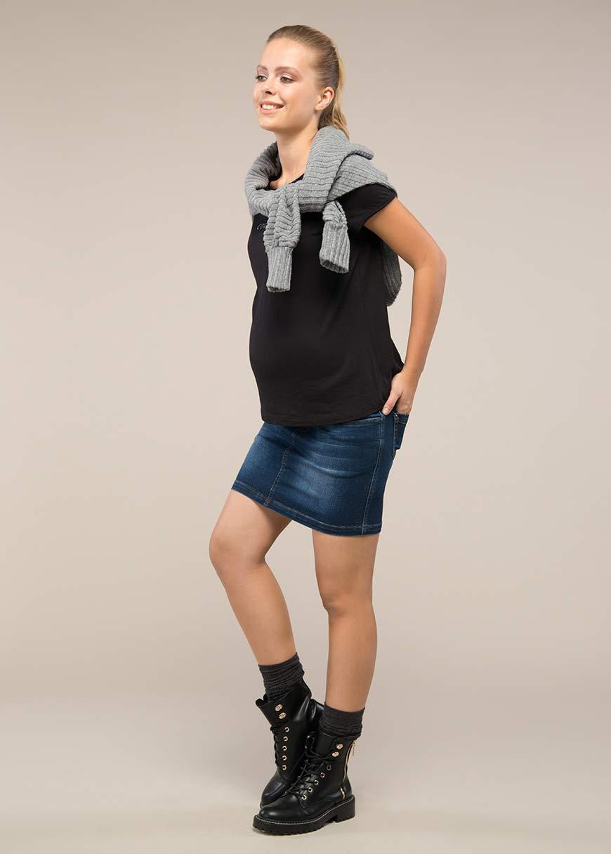- Mini Jean Skirt Adrian