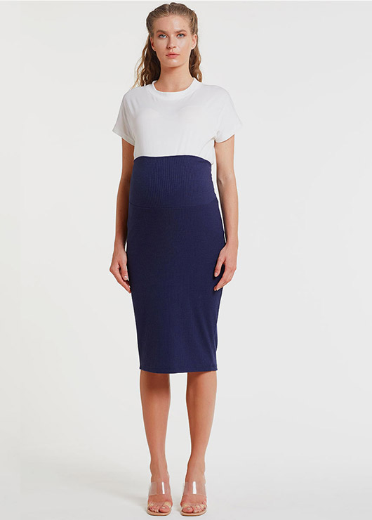 - Navy Color Skirt Nora
