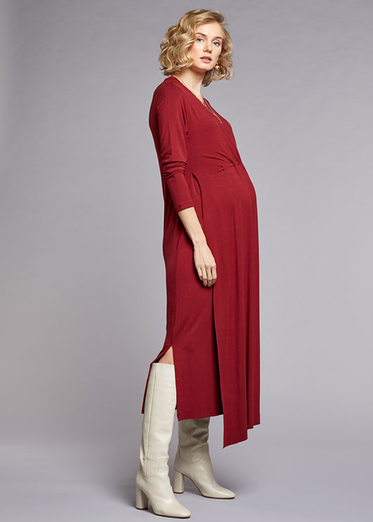 - Nursing Detailed Dress Sophia